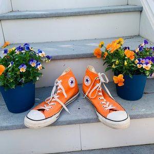 Men's Orange Hightop Converse